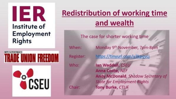 Redistribution of working time and wealth webinar